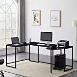 Merax U-Shaped Computer, Industrial Corner Writing CPU Stand, Gaming Table Workstation...