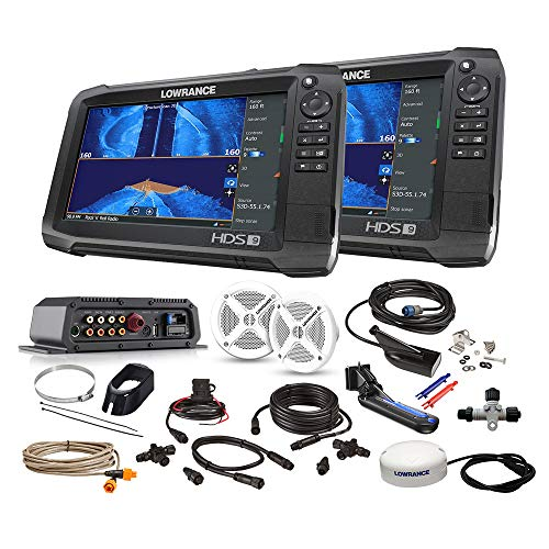 Lowrance HDS-9/HDS-9 Carbon Boat in a Box Fishfinder Chartplotter Package (000-14929-001)