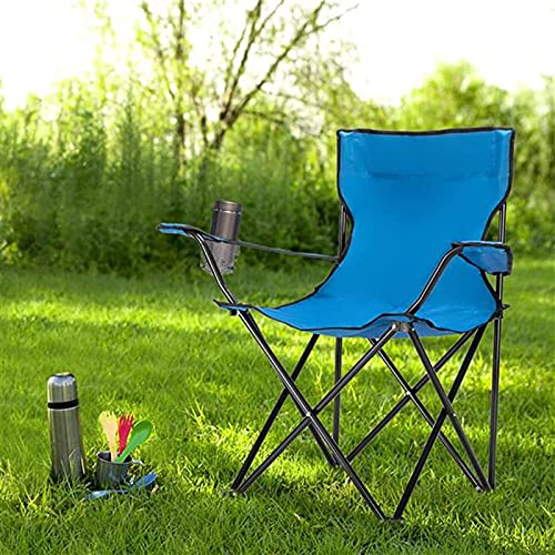 QAZW Silla Plegable Ligera del Campamento Sillas Plegables Al Aire Libre Portátiles del Respaldo Alto para Acampar Al Aire Libre