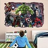 Autocollant mural Stickers muraux super-héros Sticker mural Hulk...