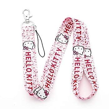 Hello Kitty Lanyard Pink Hello Kitty Lanyard Key Chain Clip Neck ID Badge Holder Lanyard  LD-Hello Kitty-B