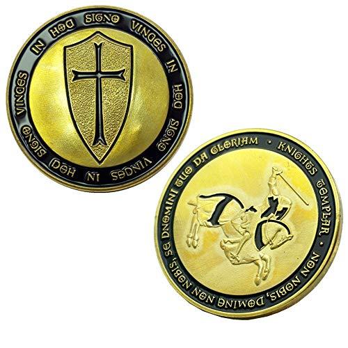 LIOU Templer-Gedenkmünze Freimaurer Herausforderung Münzen Freimaurer-Ritter-Münze