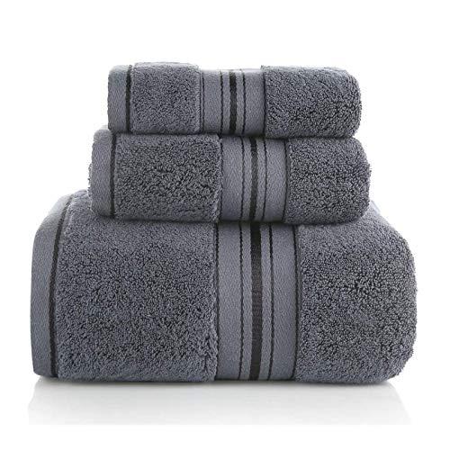 KOIYPW Badetuch Set, 3-Pack - Handtücher Set Aus Baumwolle 600 GSM 100% Ringgesponnener Baumwolle - Schnell Trocken, Sehr Saugfähig, Soft Feel Handtücher, Perfekt Für 800G Super-Absorben,Braun