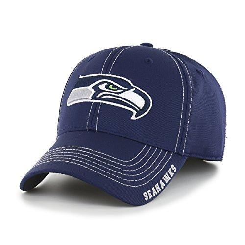 OTS NFL Seattle Seahawks Men's Start Line Center Stretch Fit Hat, Team Color, Large/X-Large
