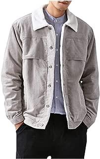 Men's Winter Sherpa Lined Corduroy Trucker Jacket Coat Outcoat