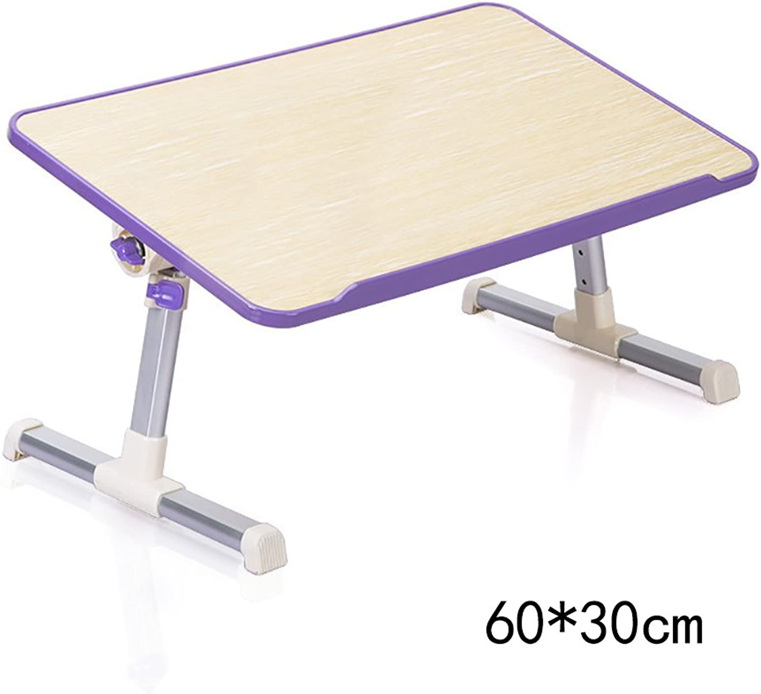 HAIPENG Laptop Tables Dormitory Learning Desk Household Folding Tables with Radiator (2 colors, 2 Styles Optional) (color   Purple, Style   A)