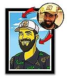 YM Dibujo Personalizado de Hombros y Cara Estilo Simpsons (Producto Digital) Envía Tus Fotos! Retrato Hecho Mano por Diseñadores Pro! Recibirás una Imagen Digital .JPG de 30x40cm 300 dpi