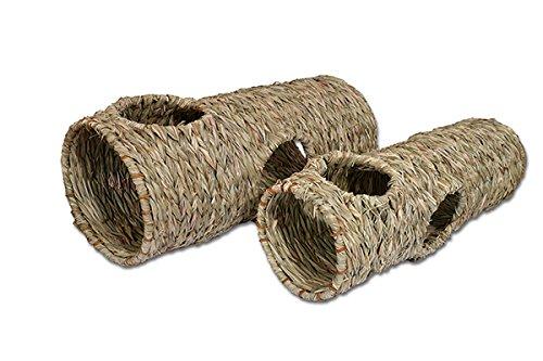 Rosewood 19470 Naturals Weidentunnel in Jumbo-Ausführung zum Spielen und Schlafen für Kaninchen, 50x22cm
