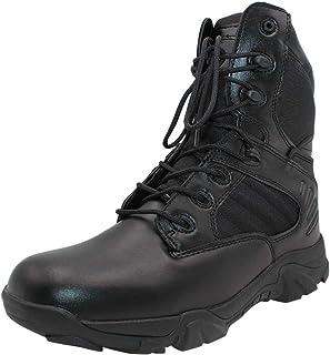 a4533ab21dc6dd Yudesun Chaussures Homme Travail Militaires Rangers - Combat Bottes  Tactique Plateforme Cuir Lacets Police Armée de