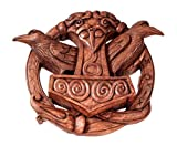 Windalf Vikings Marteau de Thor décoratif mural en forme de hugin & munin avec runes en relief en bois 24 cm