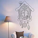 Tianpengyuanshuai Tatuajes de Pared Reloj de Cuco de Hadas Reloj niños Dormitorio decoración del hogar Mural Vinilo Adhesivo 57X36cm