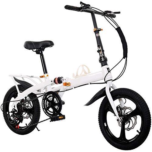 YEDENGPAO Mountainbike, 14 Zoll Faltrad Mit Extrem Leichter Magnesiumlegierung Integrated Rad, Premium Full-Suspension Und 7 Speed Gear, Leicht Und Robust Für Männer Frauen Bike