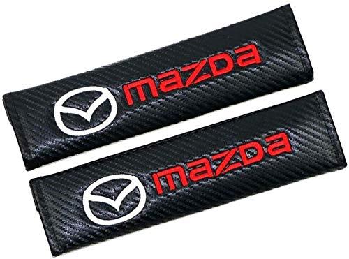 Comfortable car seat belt shoulder guard 2Pcs Seat Belt Covers,Embroidery Shoulder Seat Belt Pads with Car Brand Protector Shoulder for CX-30 Mazda2 Demio Mazda3 Mazda6 Atenza MX-5 CX-3 CX-4 CX-5 Car