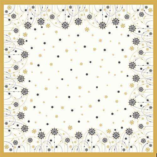 Duni Dunicel Mitteldecken Snowflake Necklace White 84x84 cm 20 Stück, Mitteldecken Weihnachten, Weihnachten, Tischdeko Weihnachten weiß