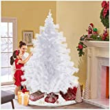 Mosunx Christmas Tree 6ft, 2020 Newest All White Artificial Christmas Trees Holiday Decoration, Xmas Tree with...