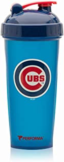 PerfectShaker Performa - MLB Collection, Best Leak Free Bottle with Actionrod Mixing Technology for Your Sports & Fitness Needs! Dishwasher and Shatter Proof (Cubs)