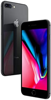 Apple iPhone 8 Plus Space Grey 64GB SIM-Free Smartphone (Renewed)