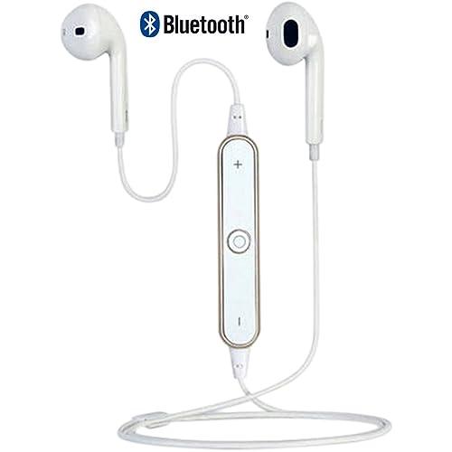 AntilaTech Wireless Bluetooth 4.1 Sports Headset avec AptX Audio & CVC Noise Cancellation, numérotation vocale, Microphone, des basses profondes, Sweat-Proof, Tangle-Free, In-Ear, Stereo Earbuds/Headphones/écouteurs stéréo pour sports et pour les passionnés de musique - Convient pour les périphériques Bluetooth tels que iOS/Windows/Android Smartphones/tablettes, Notebook/ordinateurs portables et la plupart des autres sources audio Bluetooth (White)