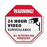 Video Surveillance Sign with Rust Fee Aluminum, 12x12x0.2 inch UV Printed for Fake Camera and Indoor Outdoor Wireless Camera System Home Security Signs wireless video surveillance Jan, 2021