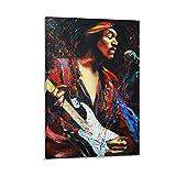 SOROP Jimi Hendrix - Póster decorativo de lienzo (20 x 30 cm)