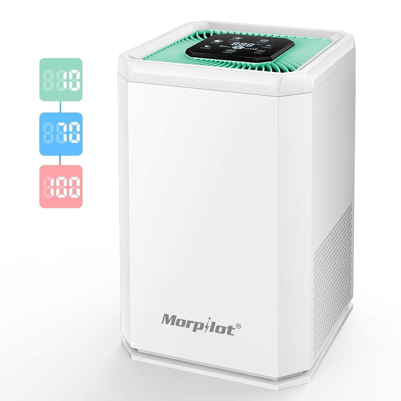 Morpilot 空気清浄機 花粉 ホコリ除去 除菌 脱臭 18畳対応 空気清浄器 タイマー付き 5段風量設定 PM2.5 高感度センサー 空気品質指示 自動モード イオン発生 静音 省エネ HEPA フィルター ホワイト