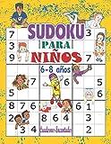 Sudoku para niños 6-8 años: Libro sudokus faciles 9x9: 100 Sudokus para niños de 6 a 8 años - con soluciones ; sudokus faciles y grandes, libro ... lógica para niños, libro sudokus pasatiempos