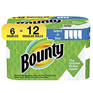 Bounty Select-A-Size Paper Towels, White, 6 Double Rolls = 12 Regular Rolls (B07BHXMY66) | Amazon price tracker / tracking, Amazon price history charts, Amazon price watches, Amazon price drop alerts