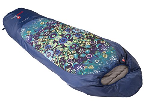 Grüezi+Bag Erwachsene Leichtschlafsack Catalina Jardin, Deep Blue, 35 x 18 x 18 cm