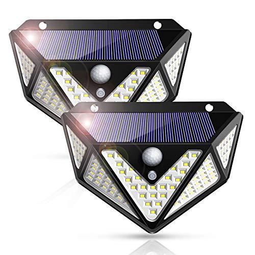 2Pack Solar Flood Lights Outdoor Motion Sensor,270° Solar Led Outdoor Lights with 3 Modes.Waterproof IP65 Solar Lights Outdoor for Yard Garage Patio Garden(2 Pack)