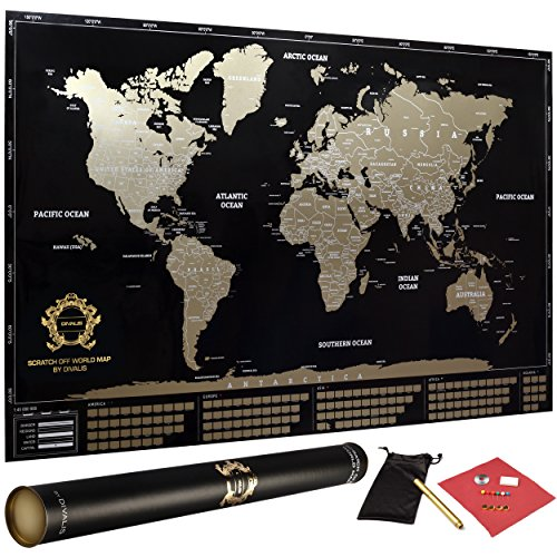 7 best scratch off maps of the world scratch off maps 34 x 21 inches gumiabroncs Image collections