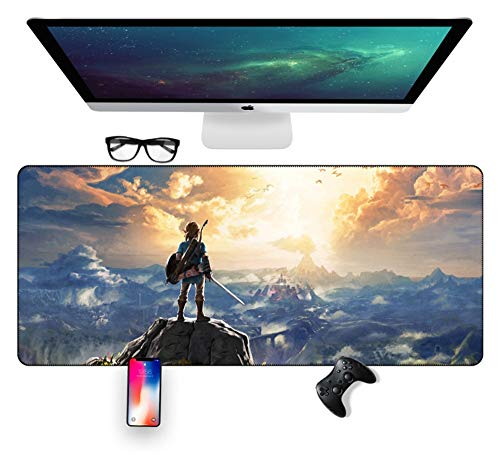 IGZNB Legend of Zelda 700X300Mm Mouse Pad,Extended XXL Large Professional Gaming Mouse Mat with 3Mm-Thick Base,for Notebooks, Pc,H