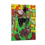 JUYT Póster de anime de hombre de motosierra decorativa de 40 x 60 cm