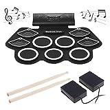 RBTT Kit de Carga del Tambor Rollo de la Mano del Tambor USB electrónicos Conveniente Juguetes Musicales reproducibles DTX estéreo Incorporado Instrumento Musical Altavoz Plegable
