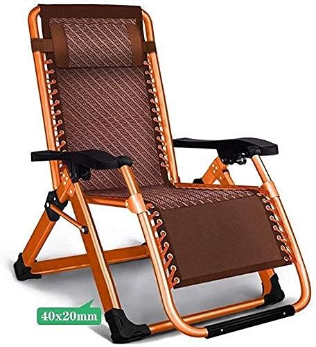 ZBBN Sillón reclinable Plegable, Tumbona, Sillón de jardín Tumbona de jardín Silla Plegable Tumbona Muebles de jardín para Oficina al Aire Libre