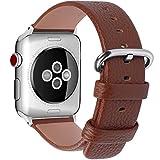 Fullmosa Yan Ersatz-Armband für Apple Watch, aus Kalbsleder, für iWatch Serie 3, Serie 2, Serie 1,...