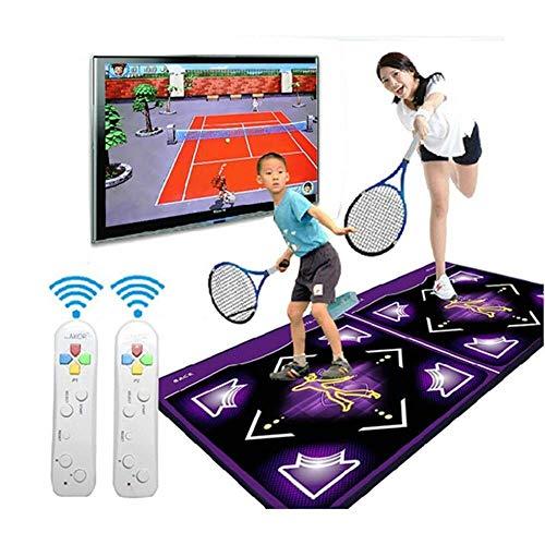 GH-YS Tanzmatte 3D Wireless Dance Pad Somatosensorische Tanzspielmatte Spielzeug, LED-Tastatur Licht Doppelgriff Bunte Scheinwerfer SD-Karte, Arcade-Stil Tanzspiele 113