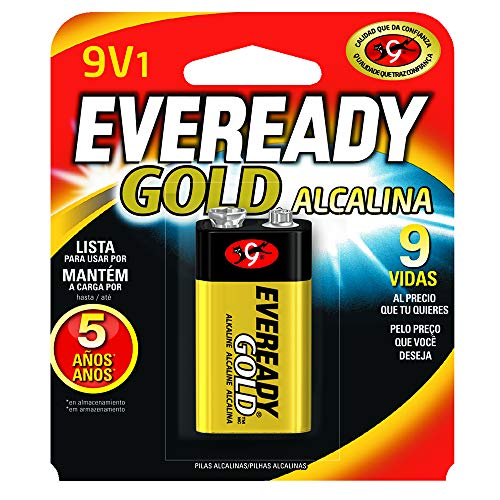 Bateria Alcalina Gold 9V, Energizer