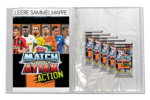 CAGO Topps Match Attax Action 2019/20 - 1 Leere Sammelmappe + 5 Booster