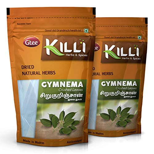 KILLI Gymnema sylvestre | Sirukurinjan | Madhunashini | Gurmar Leaves Crushed, 100g (Pack of 2)