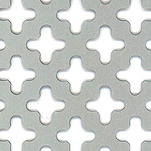 GAH-Alberts 466886 Lochblech | Kreuzloch | Aluminium, silberfarbig eloxiert | 600 x 1000 x 0,8 mm