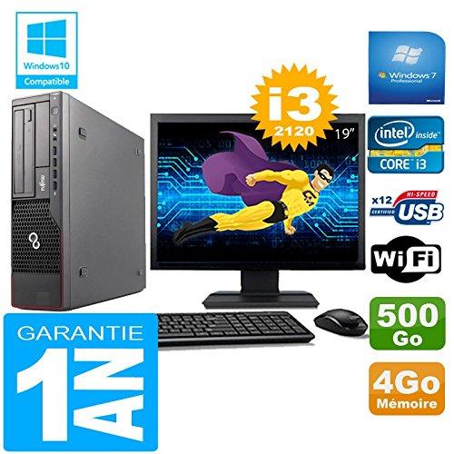 Fujitsu PC Esprimo E700 E90+ SFF Core I3-2120 4gb Scheibe 500gb Wifi W7 Bildschirm 19