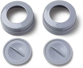 Ameda MYA Breast Pump Replacement Locking Rings & Caps (2)