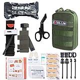GRULLIN MOLLE IFAK Trauma Kit, botiquín de Primeros Auxilios táctico, EMT de Emergencia ...