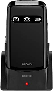 Brondi Amico Favoloso, Telefono cellulare GSM per anziani con tasti grandi, tasto SOS e funzione da remoto, dual SIM, volu...