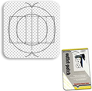 Drywall Patch Combo Pack - Electrical Outlet Patches (20), Switch Box / Can Light Patches (10)