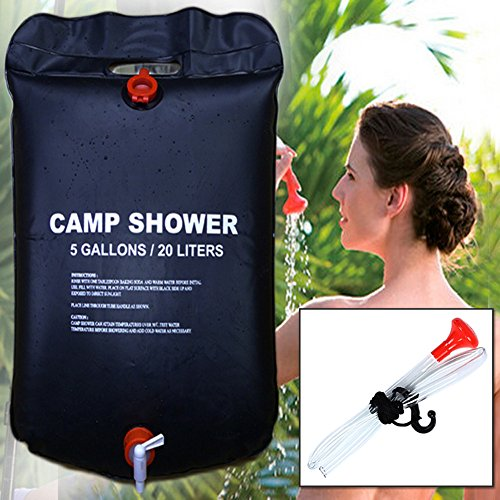 Mudent Solar Camping Shower Bag - 5 gallons/20L Solar Heating Premium Portable...