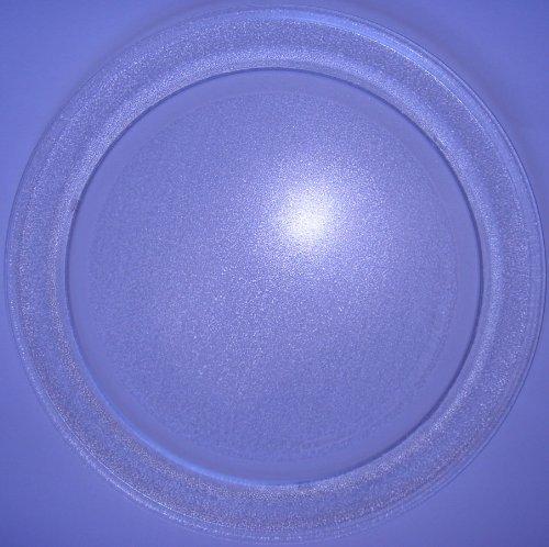 Mikrowellenteller / Drehteller / Glasteller für Mikrowelle # ersetzt Microstar Mikrowellenteller # Durchmesser Ø 35,5 cm / 355 mm # Ersatzteller # Ersatzteil für die Mikrowelle # Ersatz-Drehteller # OHNE Drehring # OHNE Drehkreuz # OHNE Mitnehmer