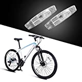 BSK 4 Pcs White Bicycle Wheel Spoke Night Safety Warning Reflector
