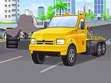 Gelb Abschleppwagen