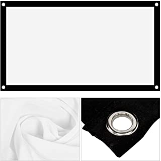 HD Portable Projector Screen 16: 9 Non-Crease Projector Movies Screen 40inch - 120inch Thicken Projection Curtain voor Ind...